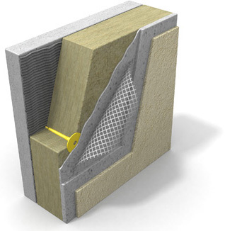 Вот такая многослойная структура, в основе которой минеральная вата как утеплитель, является идеальным способом утепления. Заметьте, утеплитель укладывается не непосредственно на рабочую поверхность стены, а на тонкий слой штукатурки