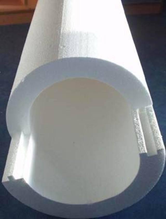 XPS в виде цилиндра для изоляции труб