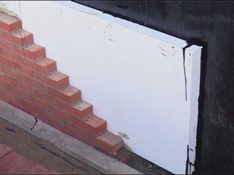 Защита пенопласта на фундаменте при помощи кирпичной кладки.